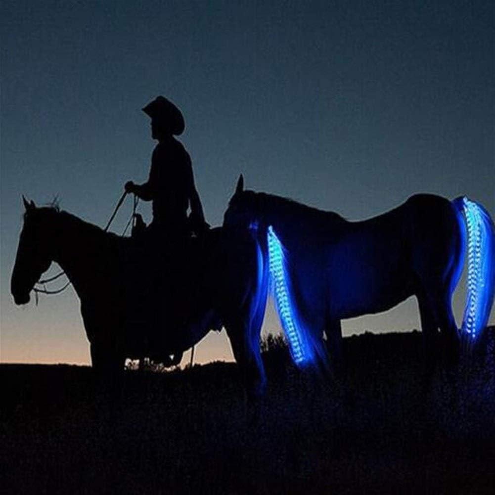 ZANGAO 100cm USB facturable Cheval arri/ère /à LED Lumi/ères /équitation Tails D/écoration Tubes Lumineux Chevaux de Selle /équestre Selle Halters Color : 100cm Long Red