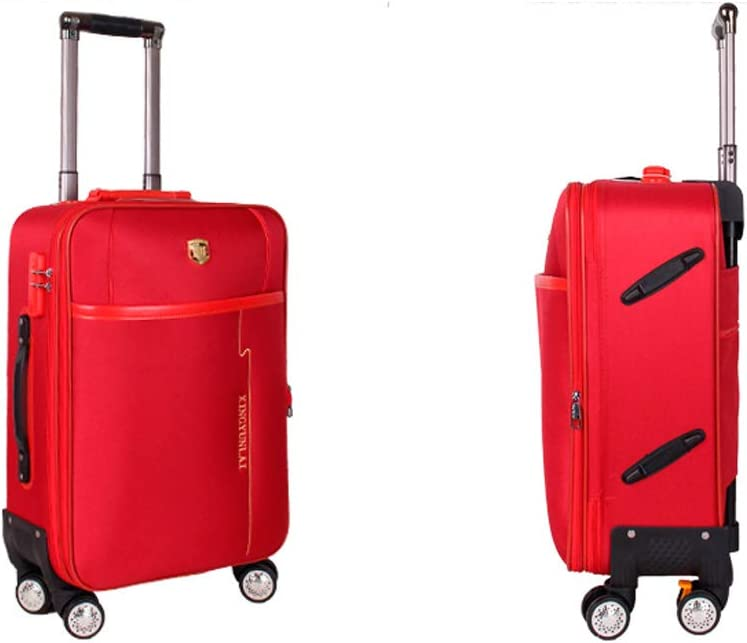 Color : Red, Size : 22 20 Inches Black The Latest Style Rotating Suitcase Simple Soft Case Simple and Guyuexuan Carry Suitcase