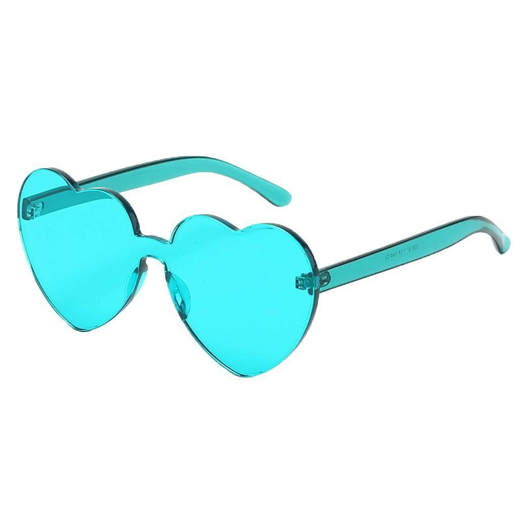 kigins Occhiali di protezione UV viaggiano allaperto occhiali da sole a forma di cuore Occhiali da sole