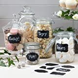 Ginger Ray Reuseable Chalkboard Sticker Labels with Chalk