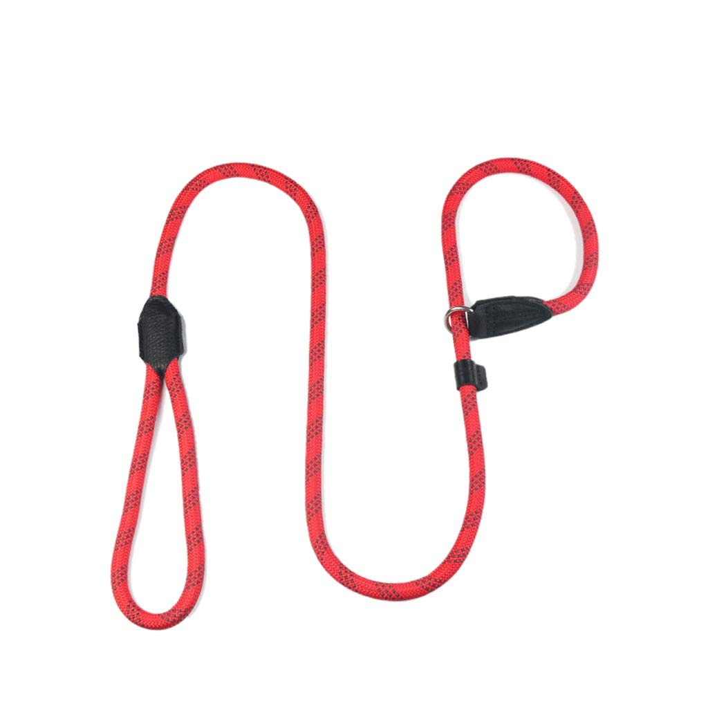 RED L2m RED L2m Lightweight Training Dog Leash, P Chain Structure Design Dog Leash,Nylon Leather Dog Leash,Medium and Large Dog Leash (color   RED, Size   L2m)