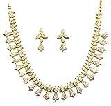 Jewelshingar Jewellery Cubic Zirconia Necklace Set For Girls ( 17359-nad )