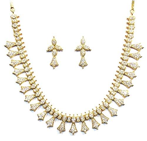 Jewelshingar Jewellery Cubic Zirconia Necklace Set For Girls ( 17359-nad ) by Jewelshingar