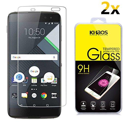 - [2-Pack] KHAOS for BlackBerry DTEK 60 / DTEK60 Tempered Glass, 2.5D Rounded Edge,