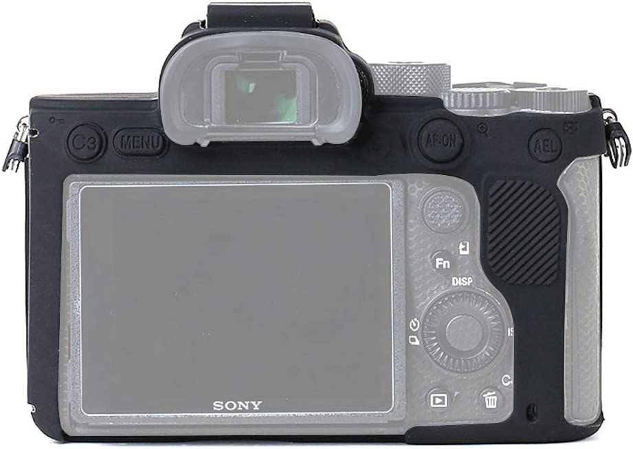 Black for Sony A7IV // A7RIV, Black Professional Silicone Rubber Camera Case Cover Detachable Protective for Sony A7IV A7RIV Sony ILCE-7RIV A74 A7R4 STSEETOP Sony A7IV Case