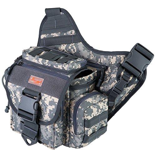 Piscifun fishing tackle bags single shoulder bags digital for Ap fishing backpack