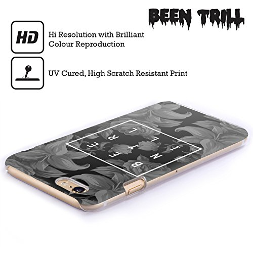 Official Been Trill Black And White Floral Patterns Hard Back Case for Apple iPhone 5 / 5s / SE