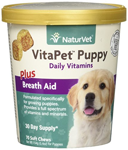 NaturVet 70 Count VitaPet Puppy Plus Breath Aid Soft Chews