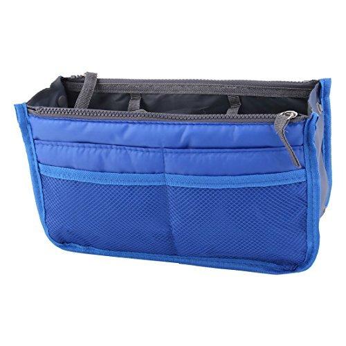 eDealMax Nylon Outdoor cerniera cassetto divisori organizzatore cosmetico Deposito imballaggio Viaggi bagagli Bag Dark Blue