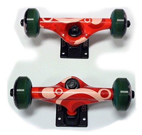 Tgm Skateboards 7.75 Trucks, 52Mm Wheels, Abec 5 Bearings Combo Package Red