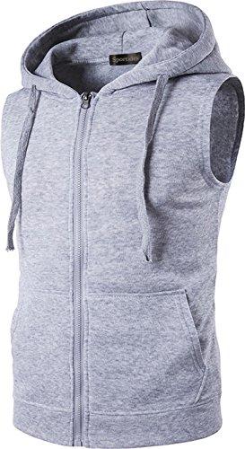 625ad781e40c7 Sportides Men s Casual Gilet Waistcoat Hoodie Sleeveless Sweatshirt Vest  JZA001