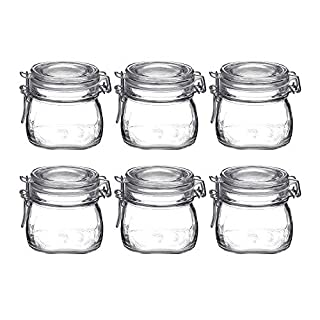 Bormioli Rocco Fido Clear Glass Jar with 85 mm Gasket,0.5 Liter (Pack of 6) (6 Items) (B071VWKR8Z) | Amazon price tracker / tracking, Amazon price history charts, Amazon price watches, Amazon price drop alerts