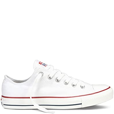 ac9f4e2fcb506 Converse Men's All Star Chuck Taylor M7652 Optical White M7652 Canvas Lo Ox  - MEN 4 M US / WOMEN 6 M US