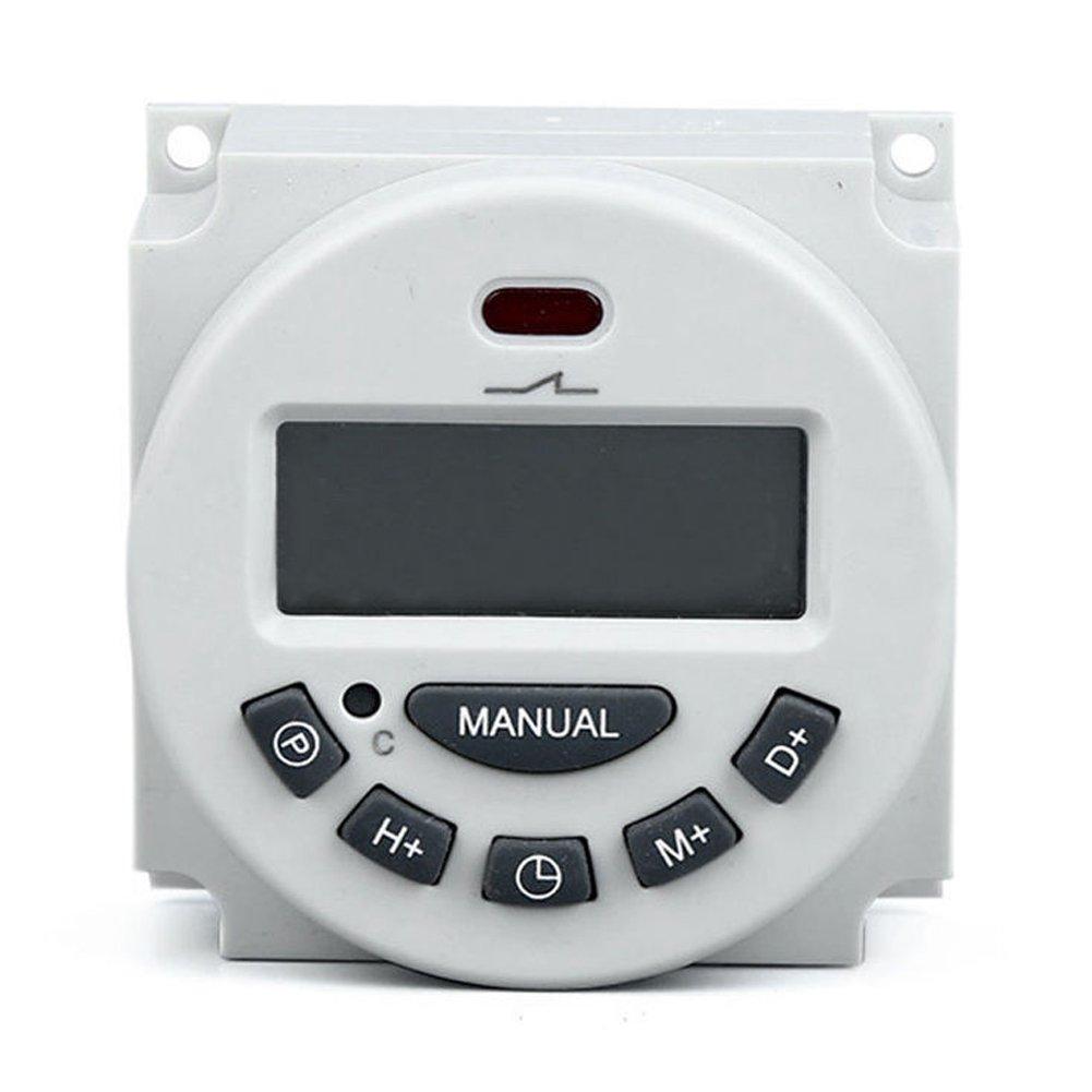Digital LCD interruptor relé tiempo de electrónica programable semanal Temporizador 12V/110V/220V 12V BriskyM