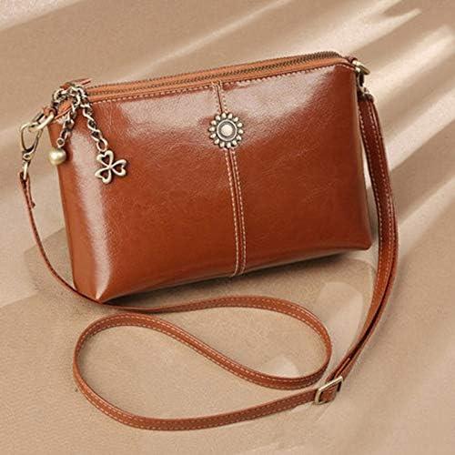 HUOQILIN Bolso Bolsos Moda Cuero Suave Cuero Salvaje Messenger Bag Bolso De Embrague (Color : Black) Brown