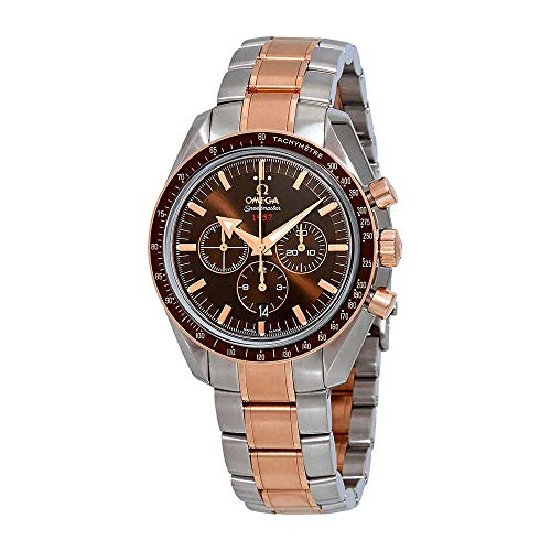 Omega Speedmaster Broad Arrow Chronograph Automatic Brown Dial Mens Watch 321.90.42.50.13.001
