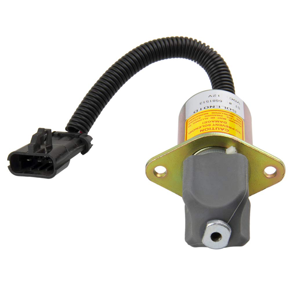 Big Autoparts Fuel Shut Off Solenoid Fuel Solenoid Switch for Bobcat Skid Steer 751 753 763 773 7753 Compatible with 6681513 by Big-Autoparts