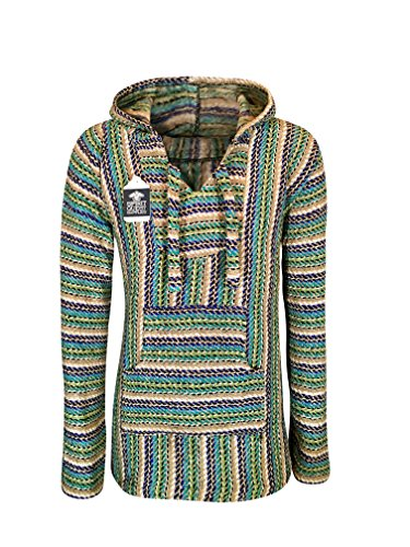 BuddhaHood Baja Eco Hoodie | Choose Color & Size | Embrace Outdoors in Warmth! (Earth Buddha: Navy Blue, Teal, Light Green, Tan, Black, White, Small) (Mens Buddha Sweatshirt)
