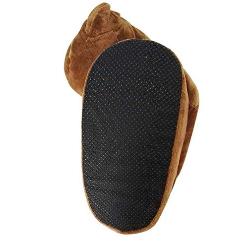 Zapatos emoji linda del invierno de los deslizadores cálido y acogedor felpa suave cubierta Inicio zapatillas unisex adulta del Reino EUROPA (35-43) Poo