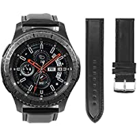Pulseira De Couro Samsung Gear S3 Frontier Classic E Samsung Galaxy Watch 46mm - Preta