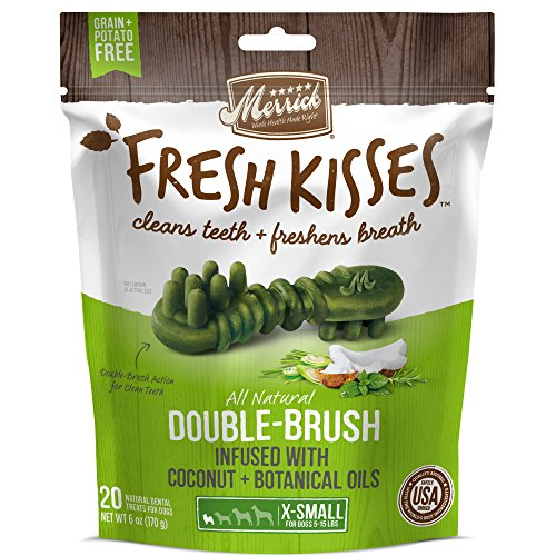 Merrick Fresh Kisses Coconut Oil + Botanicals Extra Small Brush - Small Bag (20 Ct)