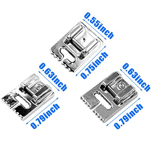 Twin Needles, 9 Pcs Sewing Machine Double Twin Needles with 3 Pcs Groove Pintuck Foot for Household Sewing Machine, Size 2/90 3/90 4/90 (Style 1)