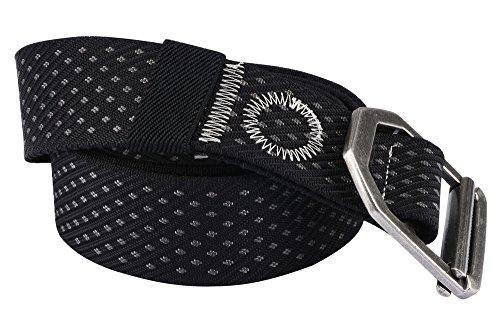 Unitop Mens Military Style Belt Aluminum alloy Buckle Nylon Web Belts for Men Black - Apparel Locations Alloy