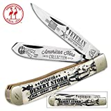 Kissing Crane Gulf War Veteran Trapper Pocket Knife