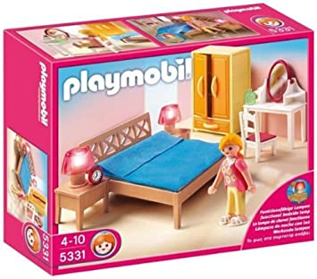 5309 Playmobil Master Bedroom with working Bedside Lights for Dollhouse 4 Years+