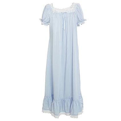 ShenZuYangShop Pijamas Ropa de Dormir Camisón Camisones Ropa de casa Verano Camisones Señoras Modelos Finos Sexy