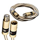 Aurum Ultra High-Performance, Premium Balanced XLR Cables for High-end Audio/Home Theater Systems XLR Male to XLR Female (1M, 2M, 3M, 5M, 6M & 10M) (5M / 16.4Ft)