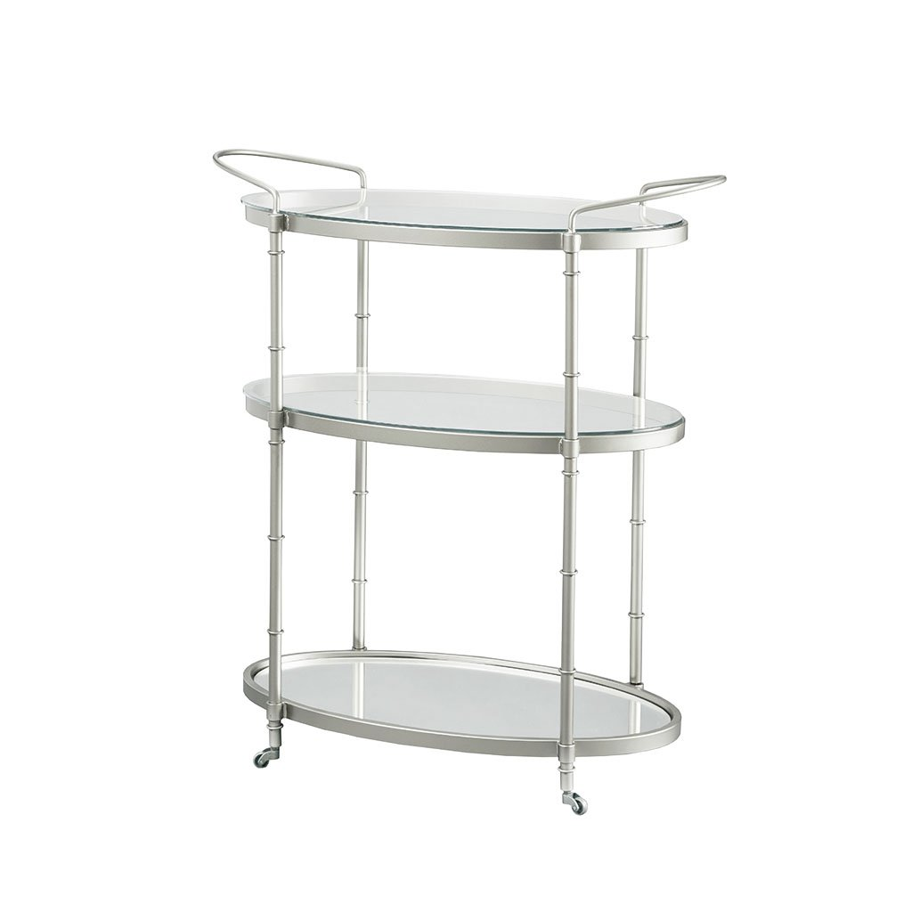 MADISON PARK SIGNATURE 1234-JLA-Home-139 Lauren Bar Cart Silver See by MADISON PARK SIGNATURE