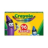 Crayola 96 Crayons, School and Craft Supplies, Gift for Boys and Girls, Kids, Ages 3,4, 5, 6 and Up, Back to school, School supplies, Arts and Crafts,  Gifting