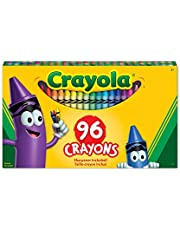 Crayola 52-0096 96 Crayons, School and Craft Supplies, Gift for Boys and Girls, Kids, Ages 3,4, 5, 6 and Up, Back to school, School supplies, Arts and Crafts, Gifting