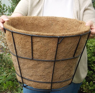 CASE/10 16'' DOUBLE BASIC BASKET PLANTER LINER (NO HOLES) not include Basket Planter by KIS