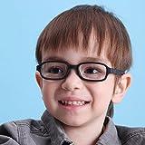 EnzoDate Children Optical Glasses Frame with Strap, Safe Bendable Size 43/16