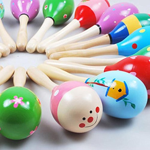 The Best Gift  Ikevan Mini Wooden Ball Children Toys Percussion Musical Instruments Sand Hammer