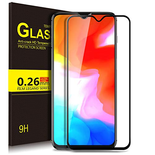 OnePlus 6T Screen Protector, KuGi 9H Hardness HD Clear Tempered Glass Screen Protector for The OnePlus 6T Smartphone(Black)