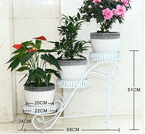 White multi-functional idyllic flower frame / multi-storey design / suitable for indoor, balcony, living room, garden
