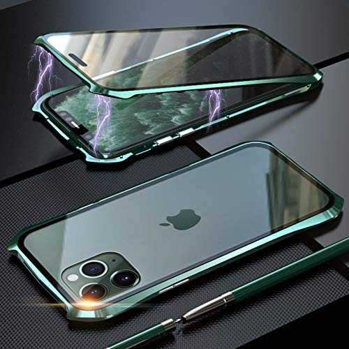 XuBa for IP-Hone 11 Pro/IP-Hone 11 /IP-Hone 11 Pro m-ax Front Back Glass  Cover Magnet Adsorption Luxury Metal Phone Case Green IP-Hone 11 Pro for  CE: Buy XuBa for IP-Hone 11 Pro/IP-Hone