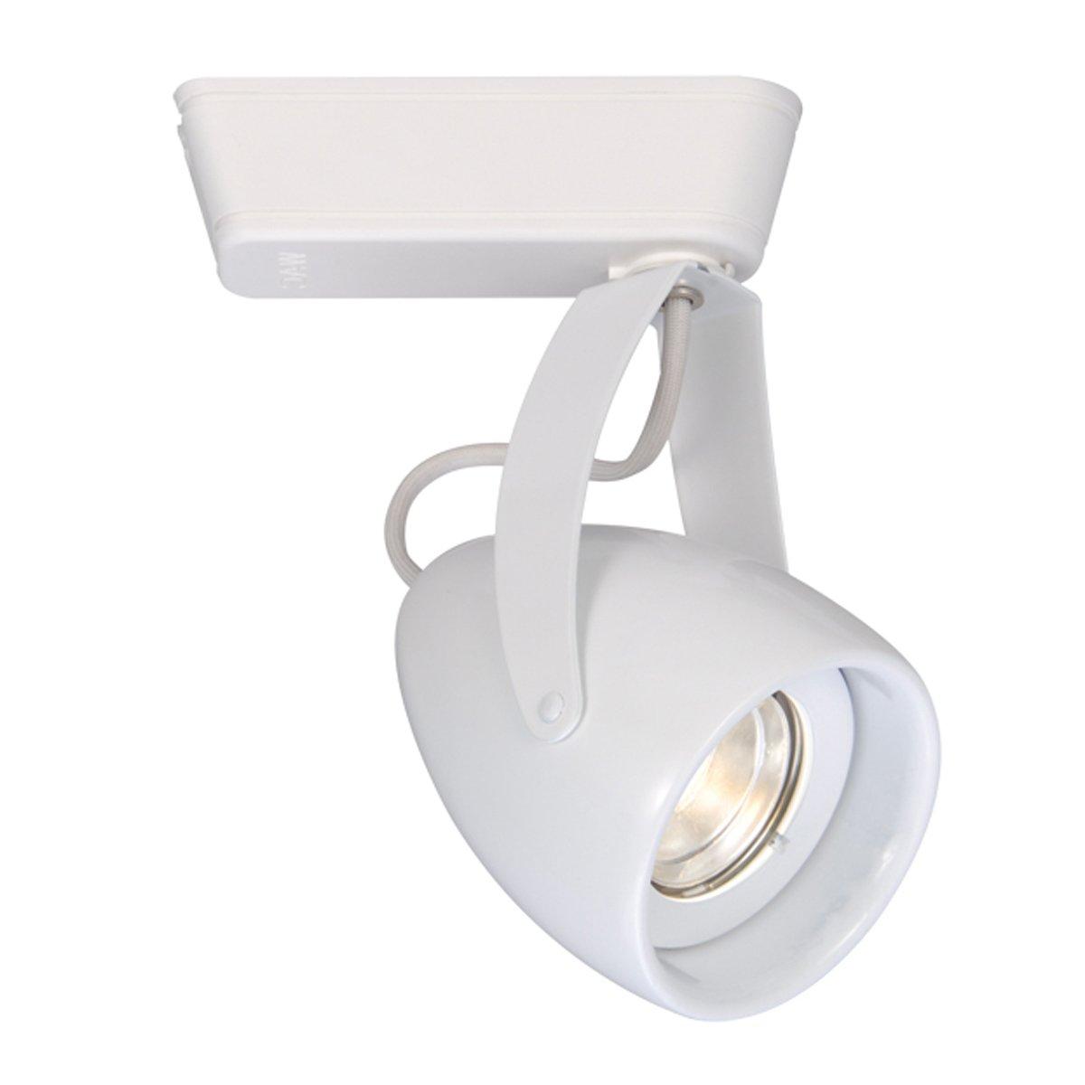 WAC Lighting H-LED820F-40-WT H Series LED820 Impulse LED Low Voltage Track Head in White Finish, Flood Beam, 4000K