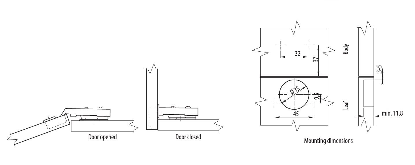 Soft Close Kitchen Cabinet Door Hinge Soft Close (35 mm): Amazon.co ...
