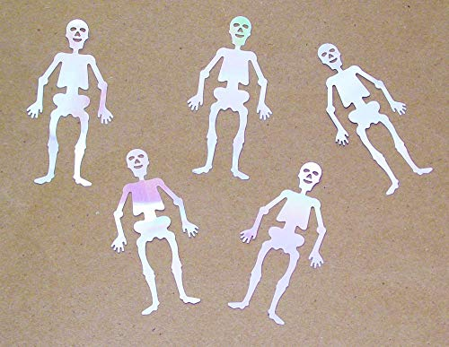 Skeletons Table Confetti, Iridescent White Color - 1.76oz Bag