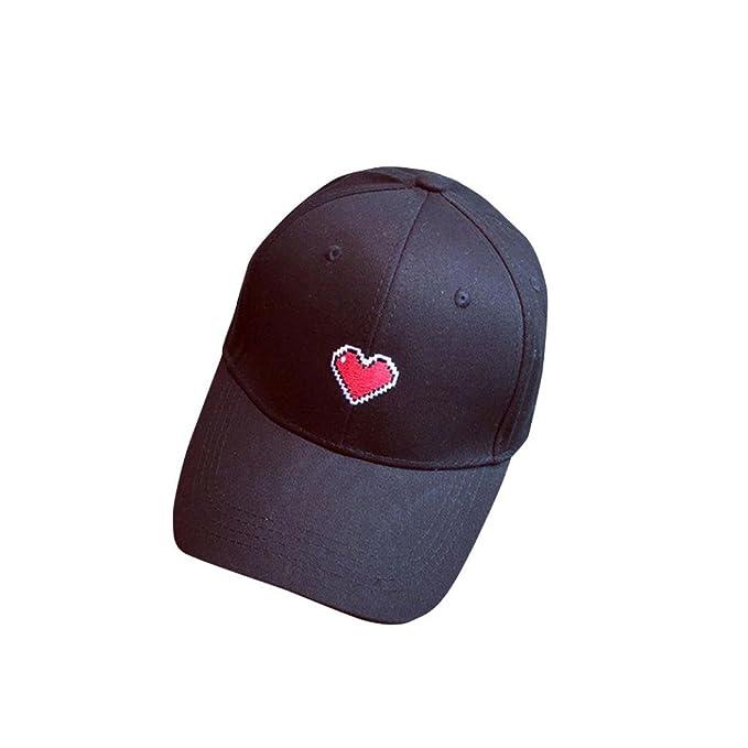 e9614261f0d168 GreatestPAK Cap Mode Unisex, Männer, Frauen, Herz bestickte, Snapback,  verstellbare Baseballmütze