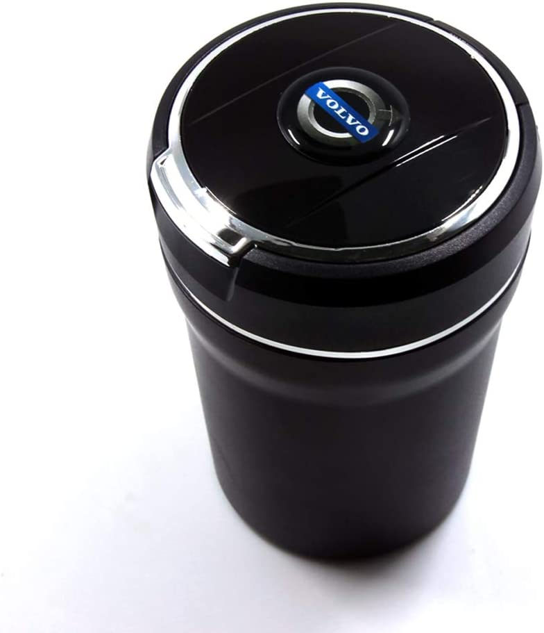 YYD Auto Posacenere Auto Posacenere con indicatore Luminoso LED Coperchio per Volvo S40 S80L S90 XC40 XC60 V40 V60 V90,doro