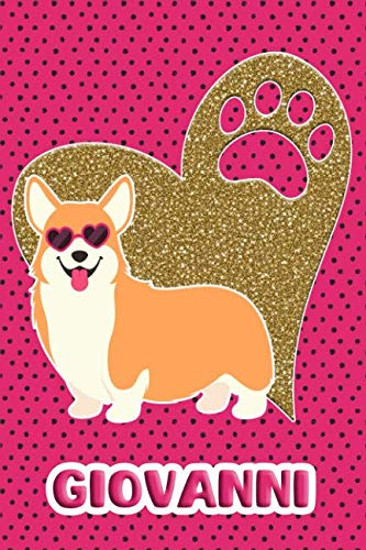 Corgi Life Giovanni: College Ruled   Composition Book   Diary   Lined Journal   ()
