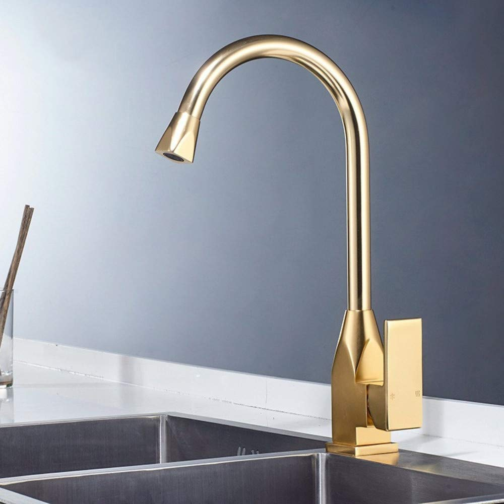 Kitchen Faucet General Kitchen Faucet Hot and Cold Faucet Dish Faucet gold