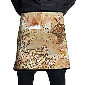 Lotus Waist Tie Half Bistro Apron With 2 Pockets For Chef, Baker, Servers, Waitress, Waiter, Pocket Waist Apron For Men & Women