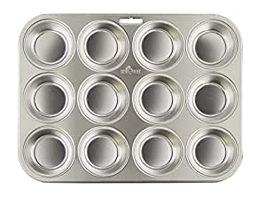 Fox Run Stainless Steel Muffin Pan, 12 cup