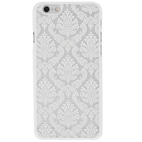 Phone Taschen & Schalen Retro Palace Embossed Blumen Pattern Schutzhülle für iPhone 6 Plus & 6s Plus ( Color : White )